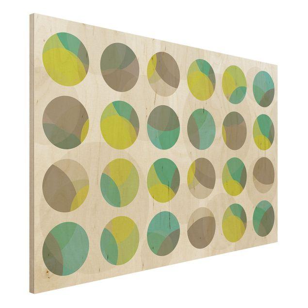 Produktfoto Holz-Bild - Kreisdesign - Quer 2:3
