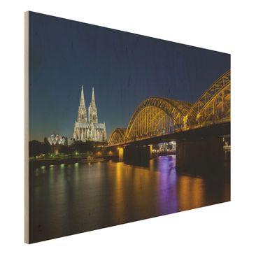 Immagine del prodotto Stampa su legno - Cologne At Night - Orizzontale 2:3
