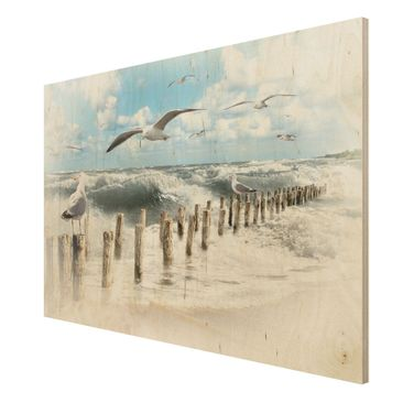Product picture Wood Print - No.YK3 Absolute Sylt - Wide...
