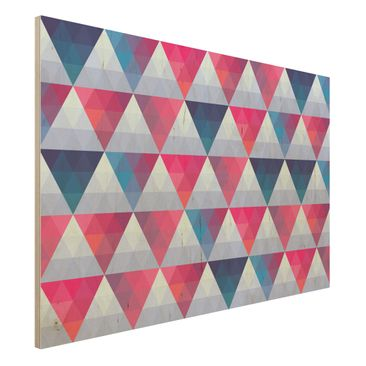 Produktfoto Wandbild aus Holz  - Triangle Muster Design - Quer 2:3