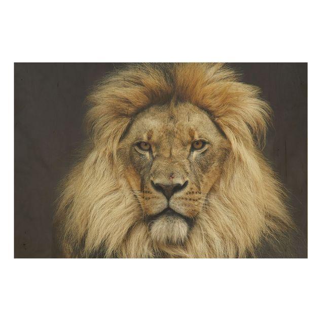 Produktfoto Holzbild - Wisdom of Lion - Quer 2:3