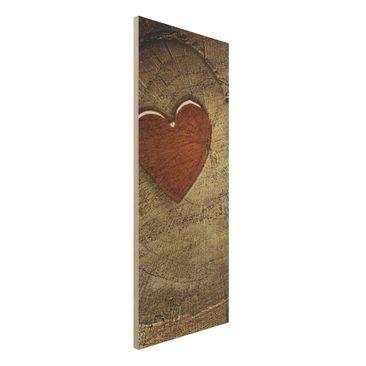 Produktfoto Holz-Bild - Natural Love - Panorama Hoch
