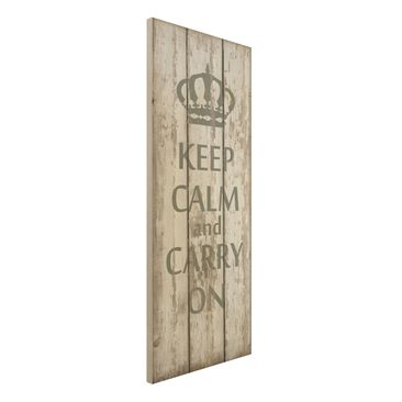 Immagine del prodotto Stampa su legno - No.RS183 Keep calm and carry on - Pannello