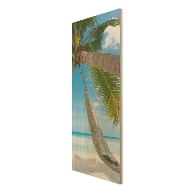 Produktfoto Holzbild Strand - Relaxing Day -...