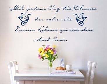 Product picture Wall Decal no.SF138 Der schönste Tag..