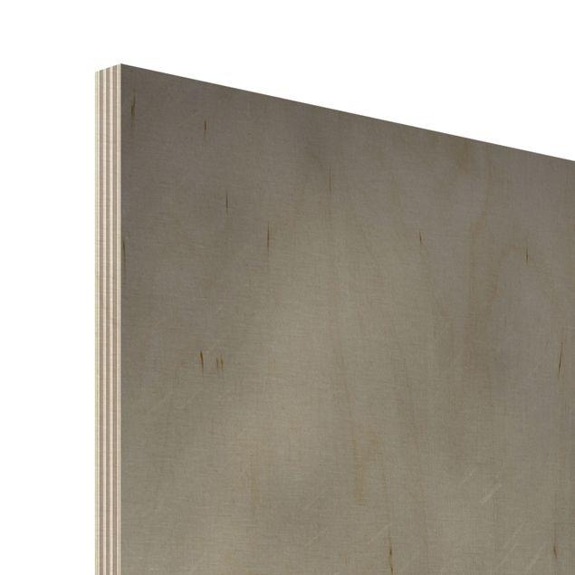 Produktfoto Holzbild - Staring Wildebeest - Panorama Hoch