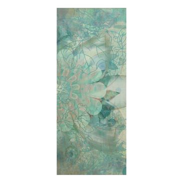 Product picture Wood Print - Winter flowers - Panorama...