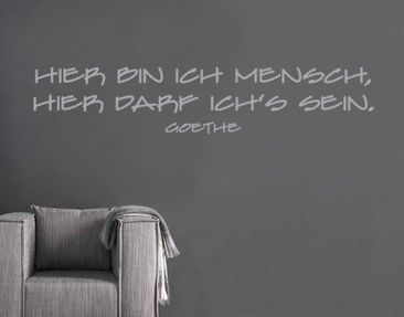 Produktfoto Wall Decal no.SF137 hier bin ich...