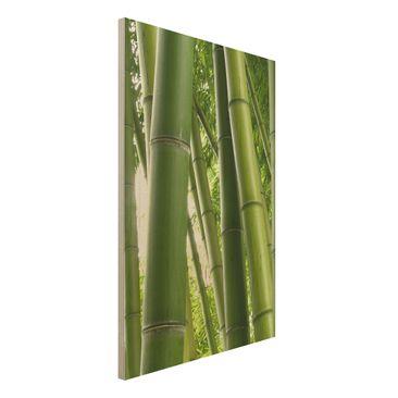 Produktfoto Holz-Bild - Bamboo Trees No.1 - Hoch 3:2