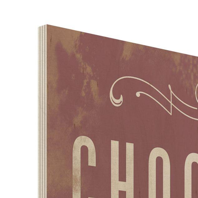 Produktfoto Holzbild - No.KA22 Chocolate - Hoch 3:2
