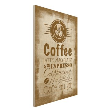 Product picture Wood Print - No.SF597 Coffee 4 - High...