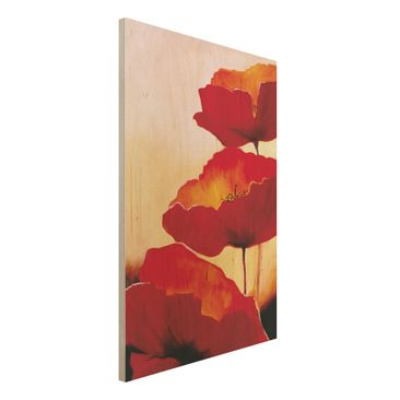 Produktfoto Wood Print - Poppy Family - High 3:2
