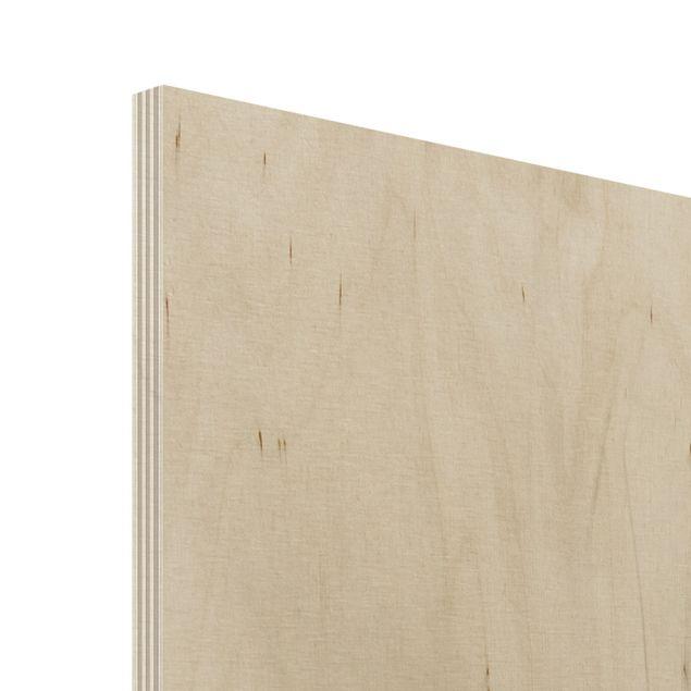 Produktfoto Holz Wandbild - Sanfte Gräser - Hoch...