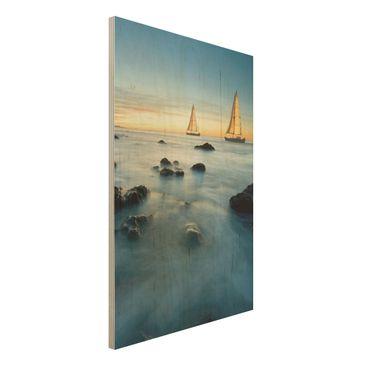 Immagine del prodotto Foto su legno - Sailboats in the ocean - Verticale 3:2
