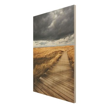 Product picture Wood Print - Way in the dunes - High 3:2