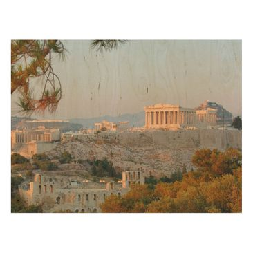 Product picture Wood Print - Akropolis - Wide 3:4