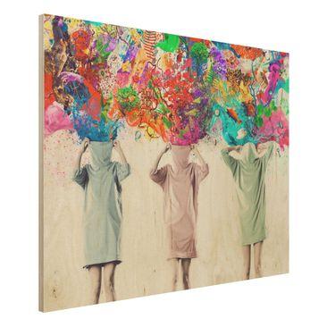 Produktfoto Bild aus Holz - Brain Explosions - Quer...