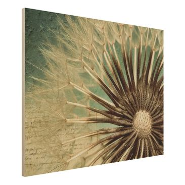 Produktfoto Holzbild Pusteblume- Closer than before - Quer 3:4