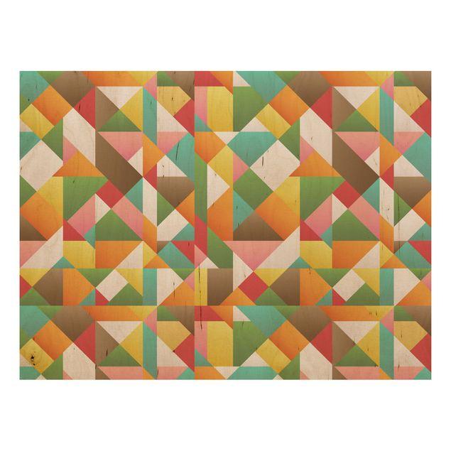 Produktfoto Wandbild Holz - Dreiecke Musterdesign - Quer 3:4