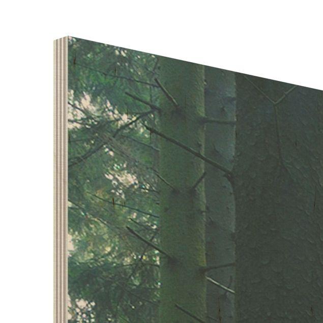 Produktfoto Holz Wandbild - Enlightened Forest - Quer 3:4