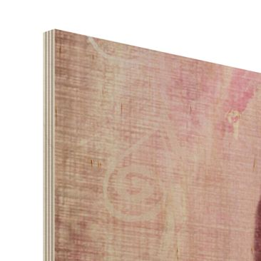 Product picture Wood Print - Grunge Flower - Wide 3:4
