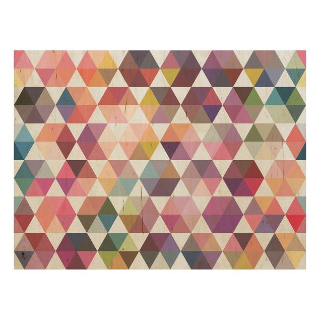 Produktfoto Wandbild Holz - Hexagon Facetten - Quer 3:4