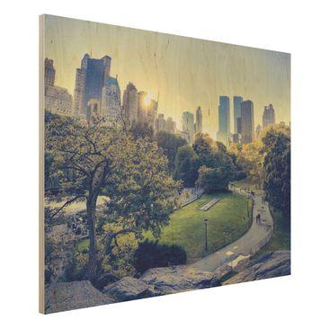 Produktfoto Holz Wandbild - Peaceful Central Park -...