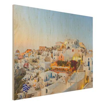 Immagine del prodotto Foto su legno - Shining Santorini -...