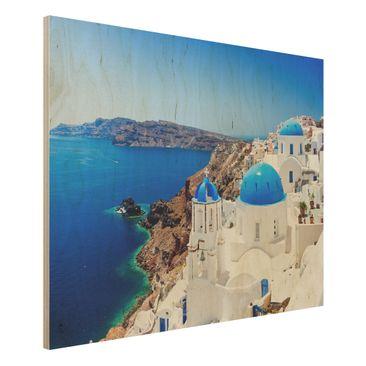 Immagine del prodotto Foto su legno - View Over Santorini - Orizzontale 3:4