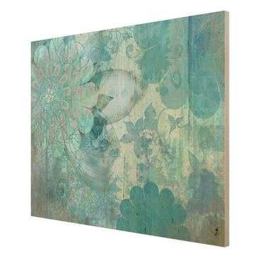 Product picture Wood Print - Winter flowers - Wide 3:4
