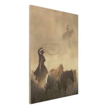 Immagine del prodotto Foto su legno - Cowboys - Verticale 4:3