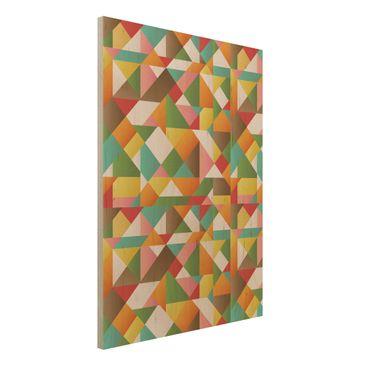 Produktfoto Wandbild Holz - Dreiecke Musterdesign - Hoch 4:3