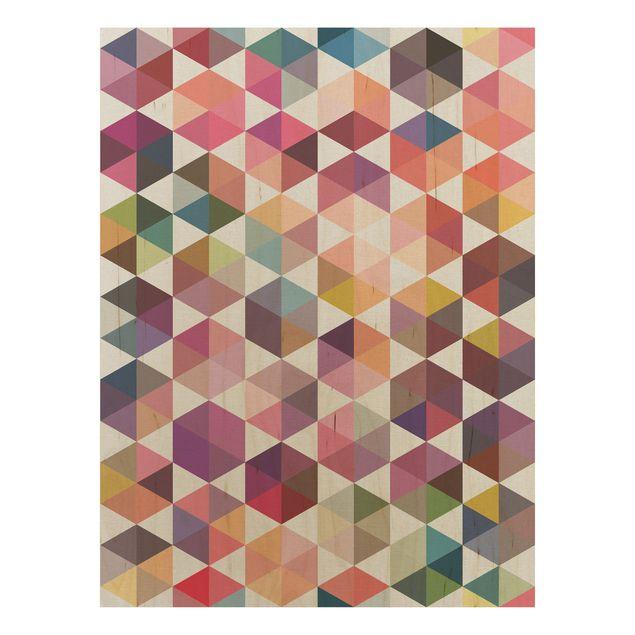 Produktfoto Wandbild Holz - Hexagon Facetten - Hoch 4:3