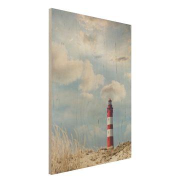 Immagine del prodotto Foto su legno - Lighthouse in the dunes - Verticale 4:3