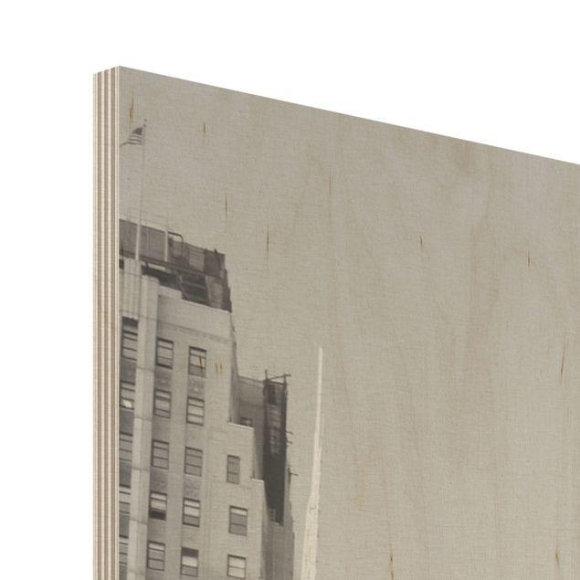 Produktfoto Holzbild - New York, New York! - Hoch 4:3