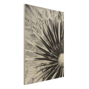 Immagine del prodotto Foto su legno - Dandelion Black & White Room - Verticale 4:3