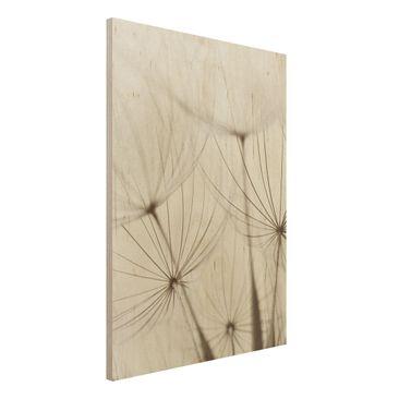 Produktfoto Holz Wandbild - Sanfte Gräser - Hoch 4:3
