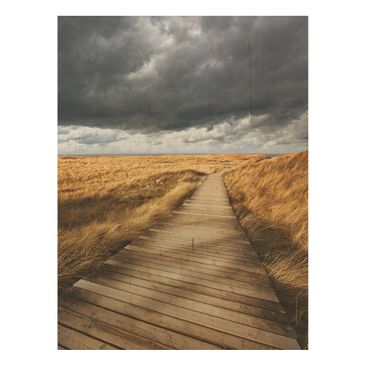 Product picture Wood Print - Way in the dunes - High 4:3
