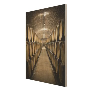 Product picture Wood Print - Wine cellar - High 4:3