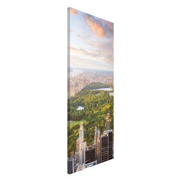 Produktfoto Magnettafel - Blick über den Central Park - Memoboard Panorama Hoch