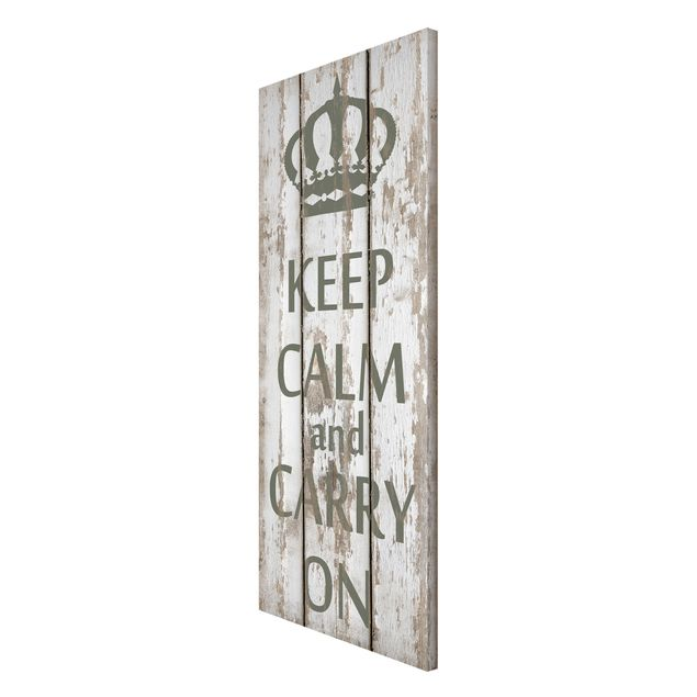 Produktfoto Magnettafel - No.RS183 Keep Calm and carry on - Memoboard Panorama Hoch