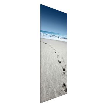 Produktfoto Magnettafel - Spuren im Sand - Memoboard Panorama Hoch