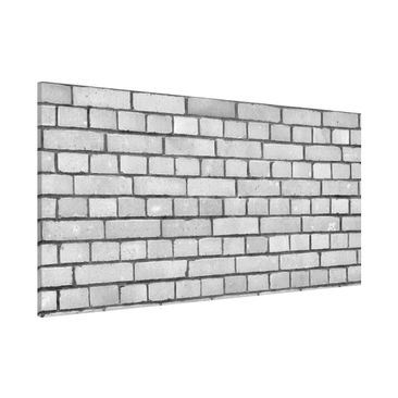 Immagine del prodotto Lavagna magnetica - Brick Wallpaper White London - Panorama formato orizzontale