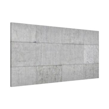 Product picture Magnetic Board - Concrete Tile Look Gray...