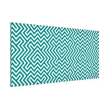 Produktfoto Magnettafel - Geometrisches Design Mint - Memoboard Panorama Quer
