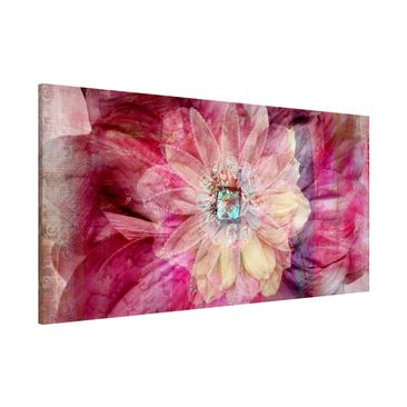Product picture Magnetic Board - Grunge Flower -...