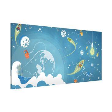 Immagine del prodotto Lavagna magnetica - No.MW16 Colourful Space Bustle - Panorama formato orizzontale