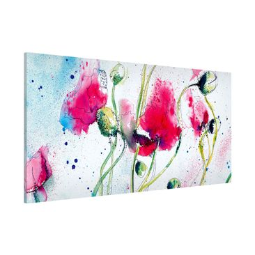 Produktfoto Magnettafel - Painted Poppies -...