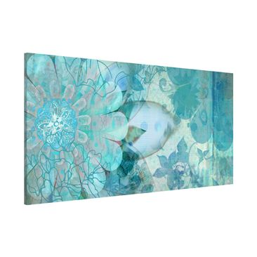 Product picture Magnetic Board - Winter Flowers -...