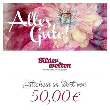 Produktfoto Geschenkgutschein - Alles Gute 50 Euro